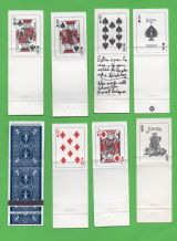 Collectable vintage  playing cards printed on bookmatch covers by Bicycle